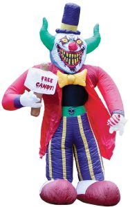 On second thought, I'll take a pass at any of this evil clown's free candy offers. Seriously, I don't know what he's going to do with that hammer. And I don't even want to know either.