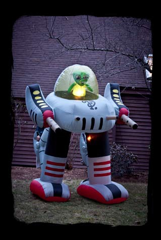 Spooktacular fun with halloween inflatable decorations for Robotic halloween decorations
