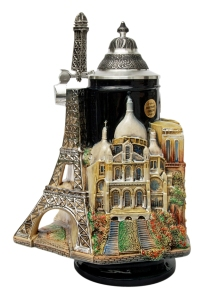 Had this been in Midnight in Paris, the movie would've been way tackier than I remember it. Still, don't really think of beer steins when I think of Paris. Or France in that matter.