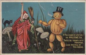 I don't get what was so funny about the witch here. But still, a pumpkin guy like that smoking a pipe? Well, that's just goddamn ridiculous, it's hilarious.