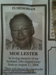 Maybe they should've stuck to his full name like Moses Lester. Moe Lester sounds a bit too creepy if you ask me.