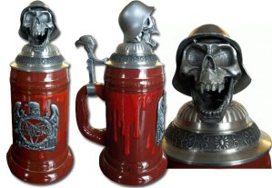 Now even metal fans can enjoy Ocktoberfest in their own special way. Of course, there is a skull stein on this post if they have other ideas.