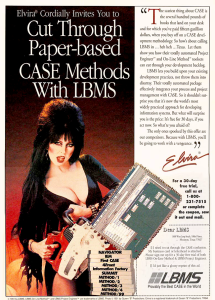 Of course, sex sells as we know in advertising. Even when it comes to unsexy things like computer and office products. Still, I think Elvira would've made a less ridiculous ad if she appeared one featuring a chainsaw.
