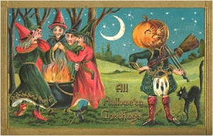 Yeah, I bet you'd freak out if you saw what was under that pumpkin man's kilt. Really don't want to know about that.