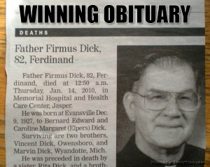 I'd expect a guy with that name to at least be a guy who does porno movies. Not a priest. Seriously, that name is just a really terrible name for a priest. Or for anybody.