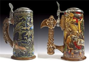 Not sure what Warhammer is. Wonder if it's on the same level as World of Warcraft. Still, must be popular enough to have a line of beer steins.