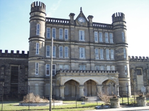 The  Old West Virginia State Penitentiary was one of the most violent in the country, mostly due to overcrowding. Said to experience a lot of riots and 36 murders. Famously featured in both book and movie The Night of the Hunter.