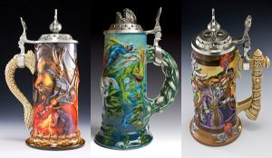 World of Warcraft is an MMO RPG on the internet. Still, why they have their own commemorative beer steins is beyond me.