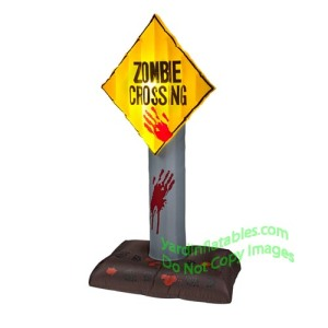 The human characters from The Walking Dead could've used signs like these. Unfortunately, they don't know where the zombies might show up, save grave yards.