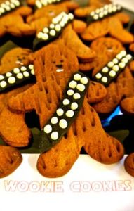 Now there are plenty of wookie cookies in all shapes and sizes. But I like this one because it doesn't use icing for fur.