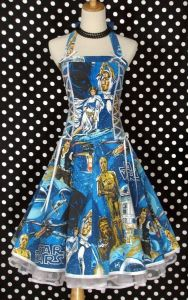 Yes, this is a Star Wars dress. Yes, it's laced with ribbons. Can a guy wear it? I'm not sure.