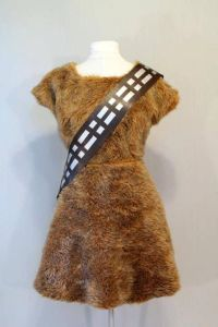 Of course, this dress is way less fuzzy than Chewie. I'm sure Chewie sheds like a shaggy dog.