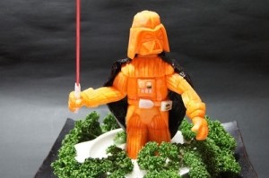 Whoever thought up making a carrot Darth Vader was s genius. Still, hard to imagine him as orange though.