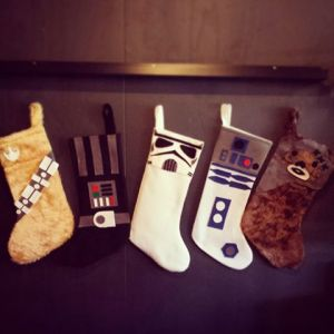 Now these consist of Chewbacca, Darth Vader, a Stormtrooper, R2-D2, and an Ewok. Still, there seems to be a lot of Star Wars Christmas stuff for some reason. Oh yeah, the fans.