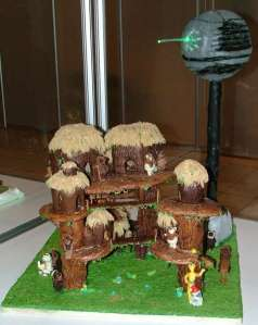 However, I think this person made an Ewok village cake for themselves due to being a repressed art major. It even includes a Death Star. But you have to like this, though.