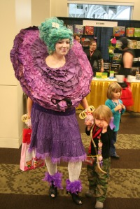 No, that's not someone you'd see in Whoville. That's supposed to be Effie Trinket. But yeah, she does dress like that.
