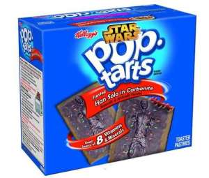 While Han Solo may be frosted in carbonite, these are frosted with chocolate icing. Not sure how I feel about that one.