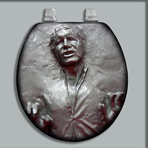 I see a lot of Han Solo in carbonite stuff all the time. But this has to be the most ridiculous by far. Seriously, why would anyone want to sit on that thing?