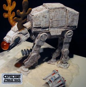 Yes, I know that AT-AT is decorated like a reindeer. Yes, I know it's ridiculous. But still, it's funny.