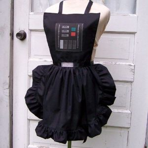 I don't think a Sith Lord of the galaxy would wear an apron like this. I mean it looks like a ladies' apron and most Sith lords are men. Still, I like it.