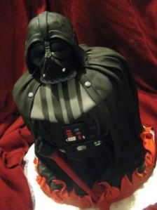 I have to admit, this is a very awesome cake. However, it also reminds me of why Darth Vader is on life support in the first place.