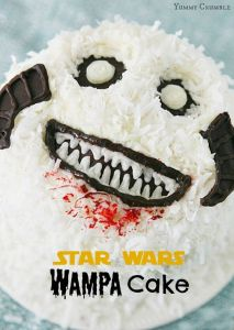 I'm sure this is the kind of cake suitable for anyone freezing on Hoth. However, its major downside is that it's covered in coconut.