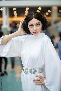 Yeah, the Princess Leia hairstyle might be the hardest part of that costume. Then again, it might be a wig.