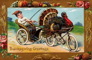 Well, Gobblekins might be whipped for going too slow now and then. But at least he knows he'll survive his next Thanksgiving as long as he puts the pedal to the metal.