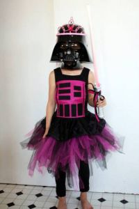 Now this is a pretty princess you don't want to mess with. Because she'll either force choke you, blow up your planet, or cut off your hand with her pink lightsaber.