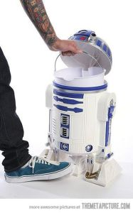Yeah, this might be a good idea. But then again, I don't think R2-D2 would appreciate having you throw stuff away into his body. That's not what an R2 unit does.