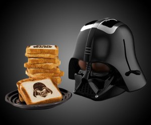 Basically burns half your toast with an image of the Sith lord himself. So if you love Star Wars and don't mind that, this is for you.