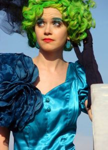 Of course, you might notice that Effie Trinket is a popular costume. Yeah, as long as you have a puffy silk dress and a funky wig, then you can have your own Effie Trinket costume.