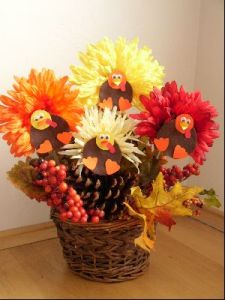 Now I'm not sure about putting turkeys on flowers. Just seems a bit weird for me. But to each his own.