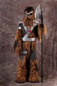 Well, a wookie with some elaborate weaponry and tools. Guess Chewie would envy him since he can't afford all that.