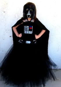 Now this is just clever. She even made the Darth Vader mask, too.