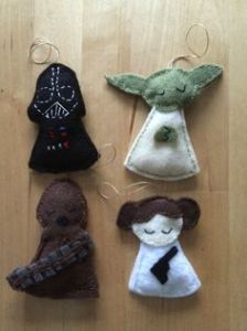 Now these consist of Darth Vader, Yoda, Chewbacca, and Princess Leia. Nevertheless, they're all so adorable and will be good for any Christmas tree.