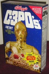 Yes, they had this in the 1980s. No, I don't think it's available now. Still, when I think about droids, I don't think about munching on them with their nuts and bolts.