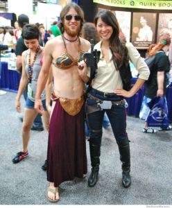 Don't know what to think of seeing Slave Leia in a beard. Still, doesn't look as bad as I thought.
