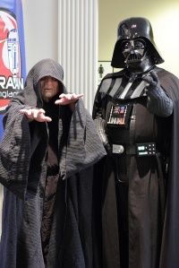 Yes, I'm sure Sith lords have to hang out, too, you know. But, Emperor Sidious, stay off of Vader's kids.