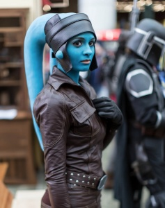 I don't think you see these Twilek aliens in the movies. But I have seen plenty in fan costumes on Pinterest. Wonder why.