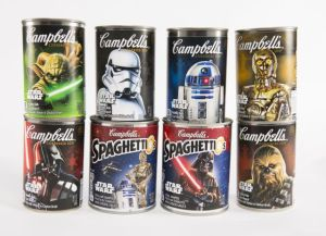 Now I'm sure eating these soups will put you squarely on the salty side of the Force. Because Campbell's Hmmm....salt.
