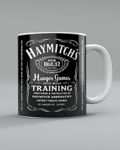 Yes, it's made to look like a Jack Daniels label. And we all know Haymitch is District 12's town drunk. But still, his alcoholism is nothing to joke about after all he's been through.