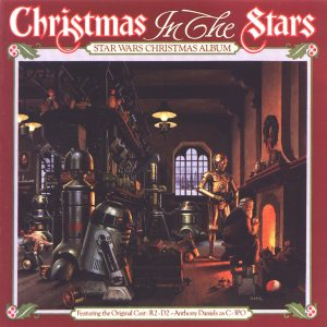 Seriously? Star Wars had a Christmas album? Do they even celebrate Christmas in that galaxy? And yet, you see C-3PO and R2-D2 in Santa's workshop.