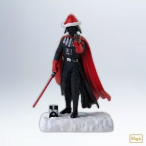 Apparently, Lord Vader finds your lack of Christmas cheer disturbing. Of course, he should give it a break since it's November for Christ's sake.