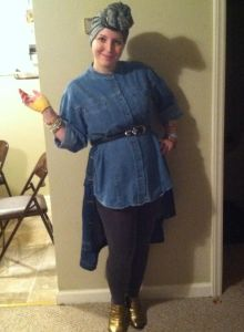 Just have some old denim clothes and you're all set. Still, in the books, remember that Effie Trinket doesn't defect to District 13, at least in the beginning.