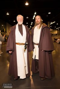 Now this is pretty funny and I know the guy on the left is Obi Wan Kenobi. But those outfits look so comfy.