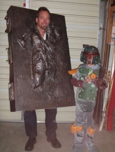 Yes, I know parenting does take sacrifice. And sometimes this means being Han Solo in carbonite while your kid is Boba Fett.