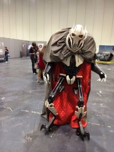 Now this guy is mostly in the cape because Grievous is a very skinny guy. But he does know his way around a few lightsabers.