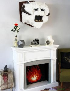 I wonder if Luke Skywalker had a Wampa head on his fireplace later in life. Then again he was freezing to death on Hoth so he probably didn't have the time to collect a trophy.