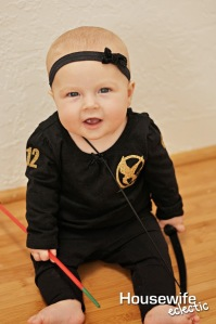 Not sure if I'd trust a baby with a bow and arrow. But you have to admit, this costume is adorable.